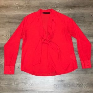 ZARA BASIC red blouse